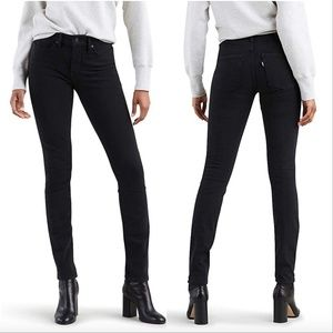 Levis 721 High Rise Skinny To The Nine Black Jeans